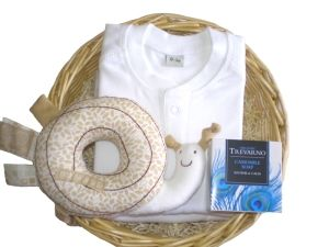 Daffodil Unisex Gift Baby Basket by Mulberry Organics