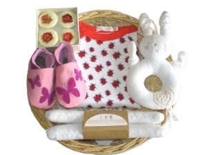 Little Bo Peep Girl Baby Gift Basket by Mulberry Organics