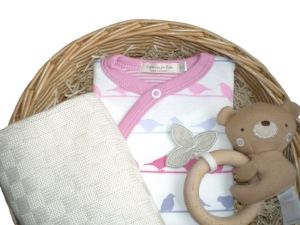 Little Princess Girls Gift Baby Basket by Mulberry Organics