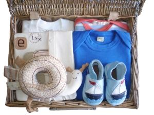London Bridge Boy Baby Gift Hamper by Mulberry Organics