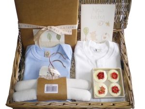 Sleep Tight Gift Luxury Basket for Baby Boys