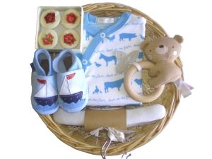 The Big Ship Boy Baby Gift Basket by Mulberry Organics