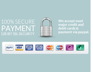 100% Secure Payment 128 Bit SSL Security